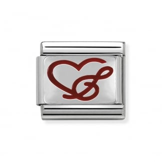 Silvershine Classic Red Love Music Charm