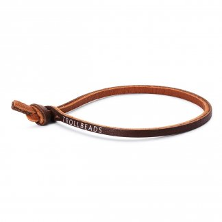 Single Brown Leather Bracelet