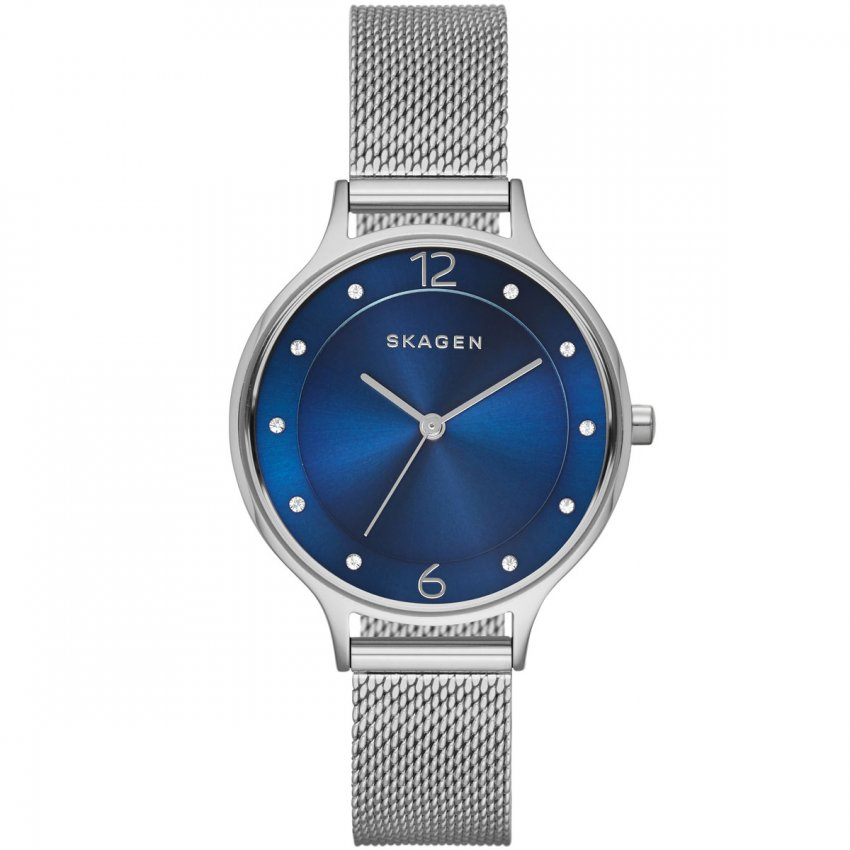 Skagen Ladies Anita Steel Mesh Blue Dial Watch SKW2307