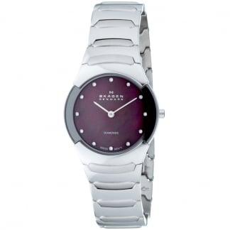 Ladies Black Label Titanium Diamond Set Watch 582SSXDD