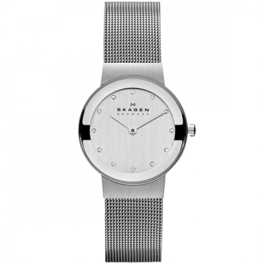 Ladies Freja Silver Tone Mesh Bracelet Watch 358SSSD