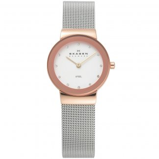 Ladies Freja Stone Set White Dial Watch 358SRSC