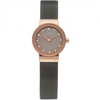 Ladies Freja Swarovski Set Black IP Watch