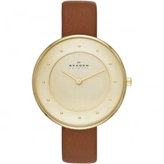 Ladies Gitte Tan Leather Strap Watch SKW2138