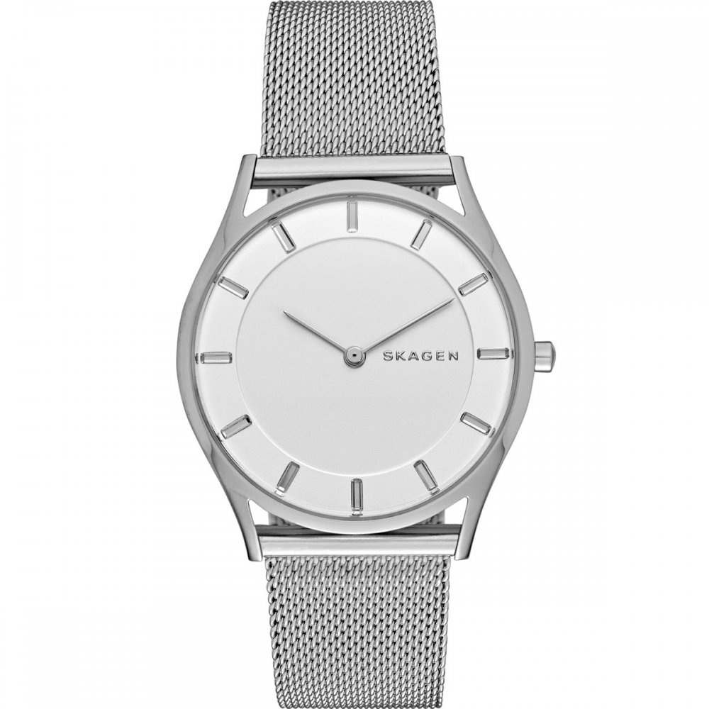 s skagen watches hagen mesh blue watch mens men stainless steel dial