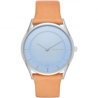 Ladies Holst Tan Strap Powder Blue Dial Watch SKW2451