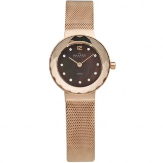 Ladies Leonora Rose Gold Plated Watch