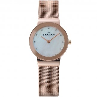 Ladies Rose Gold Ultra Slim Freja Watch