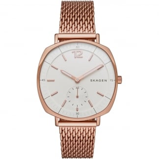 Ladies Rungsted Rose Gold Mesh Bracelet Watch SKW2401