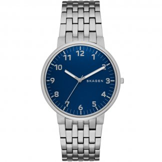 Men's Ancher Blue Dial Bracelet Watch SKW6201