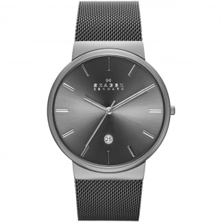 Men's Ancher Gunmetal-Mesh Watch