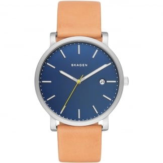 Men's Hagen Tan Leather Blue Dial Watch