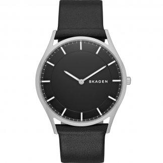 Men's Holst Ultra Slim Black Strap Watch SKW6220
