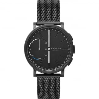 Men's Hybrid Hagen Black Steel Mesh Smartwatch