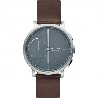 Men's Hybrid Hagen Grey with Brown Leather Smartwatch
