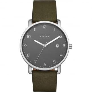 Men's Khaki Strap Grey Dial Hagen Watch SKW6306