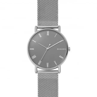 Men's Signatur Slim Steel-Mesh Watch