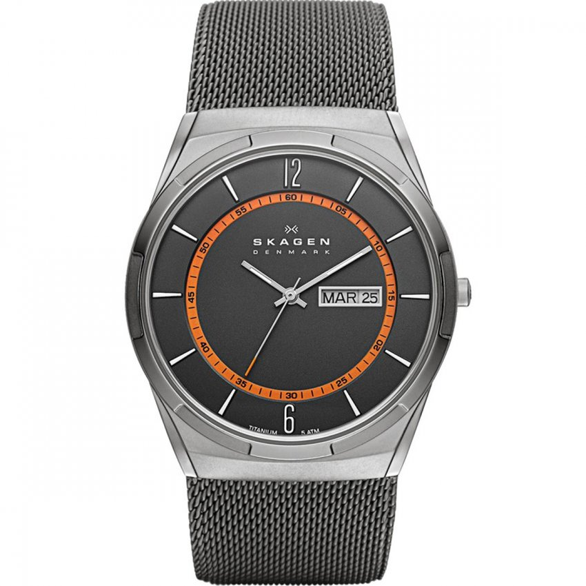Men's Titanium Melbye Day/Date Watch SKW6007