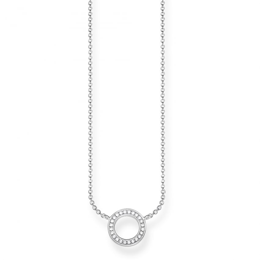 Thomas Sabo Small Open Circle Necklace KE1650-051-14-L45v
