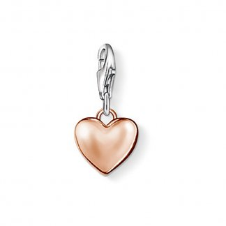 Small Rose Gold Heart Charm