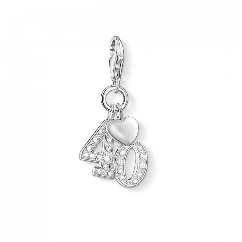 Thomas Sabo Sparkly 40th Birthday Charm 1239-051-14