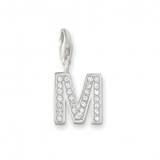 Sparkly M Charm