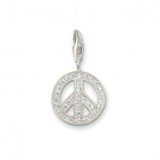 Sparkly Peace Charm 0075-051-14