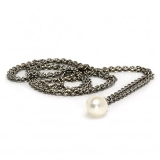 Sterling Silver 90cm Fantasy Pearl Necklace