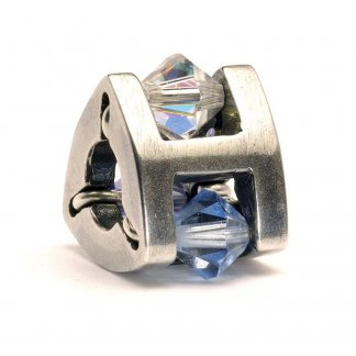 Sterling Silver and Swarovski Crystal Small Summer Jewel Bead