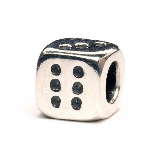 Sterling Silver Dice Bead 11133