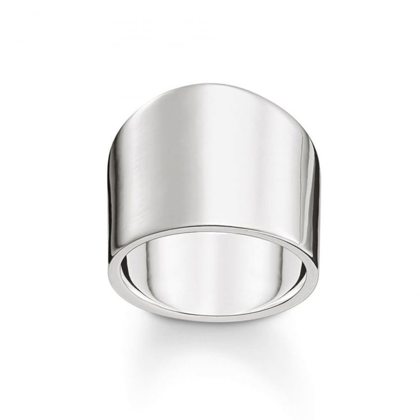 Thomas Sabo Sterling Silver Engraveable Ring TR2096-001-12