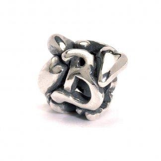 Sterling Silver Initial B Bead 11144B