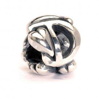 Sterling Silver Initial D Bead 11144D
