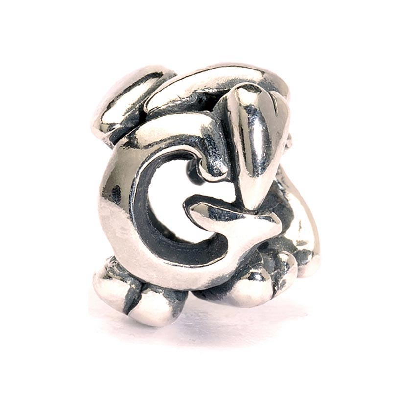 Trollbeads Sterling Silver Initial G Bead 11144G