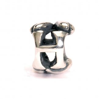 Sterling Silver Initial H Bead