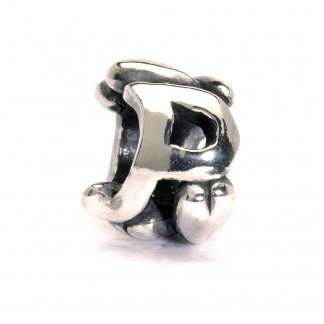 Sterling Silver Initial P Bead