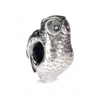 Sterling Silver Owl Bead