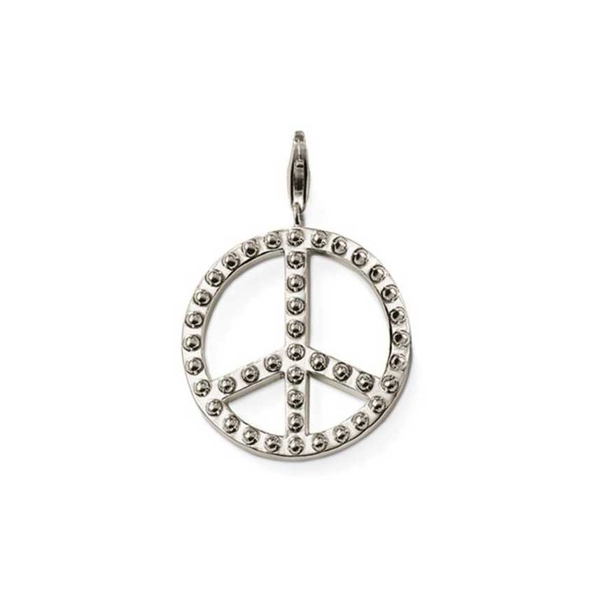 Thomas Sabo Sterling Silver Studded Peace Pendant T0127-001-12