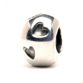 Sterling Silver Heart Print Bead 11113