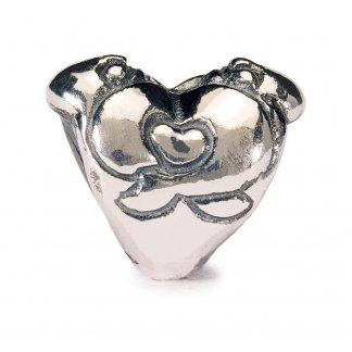 Sterling Silver Hugging Heart Bead 11157