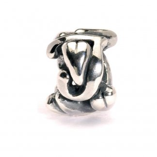 Sterling Silver Initial J Bead
