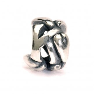 Sterling Silver Initial K Bead 11144K