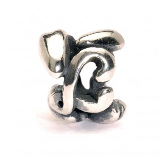 Sterling Silver Initial L Bead