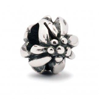 Sterling Silver Mountain Flower Bead 11160