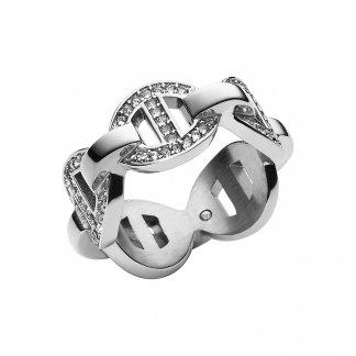Stone Set Silver Maritime Ring MKJ3994040