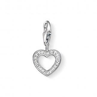 Stone Set Openwork Heart Charm 0930-051-14