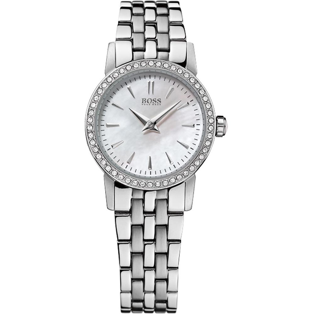 4eb82e7b58153 Hugo Boss Stone Set Women s Mother of Pearl Dial Watch Product Code  1502345