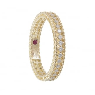 Symphony Diamond Set Yellow Gold Eternity Ring