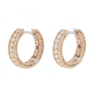 Symphony Rose Gold Diamond Set Hoops