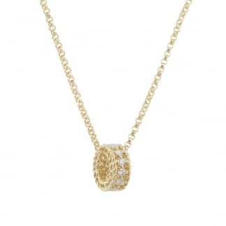 Symphony Yellow Gold and Diamond Pendant